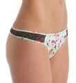 Betsey Johnson Intimates Slinky Knit Lace Thong J2950