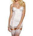 Dreamgirl Stretch Satin Babydoll with Matching Thong 7955