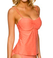 Sunsets Sun-Kissed Solid Underwire Tankini Swim Top 70SKS