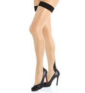 L'Agent by Agent Provocateur Back Seam Thigh High Stockings LH00-85