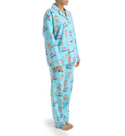PJ Salvage Fall into Flannel Angry Cat Pajama Set VCATPJ