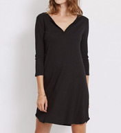 Three Dots 1X1 Cotton Modal Charlotte 3/4 Sleeve Dress AJ5509